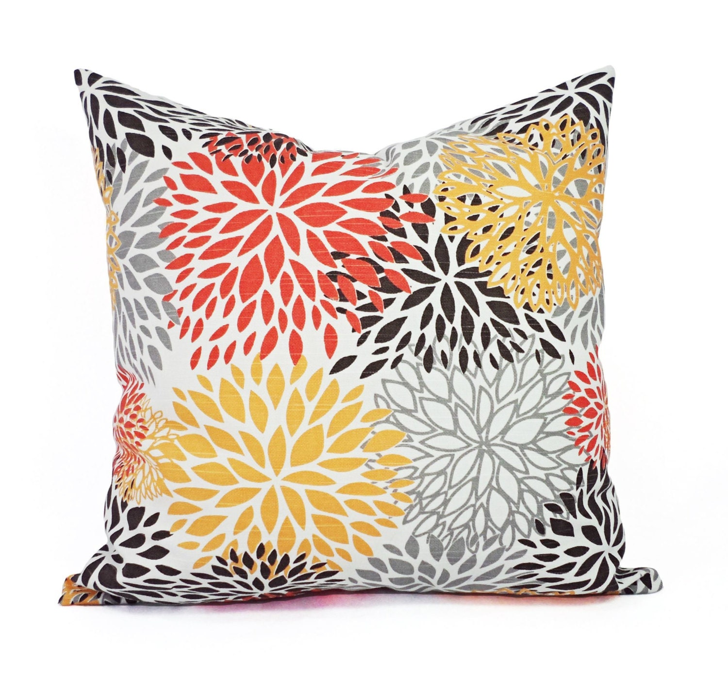 Orange Decorative Pillows Couch : Two Orange and Brown Couch Pillows Orange Throw Pillow Cover