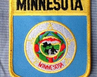 Minnesota Flag Souvenir Travel Patch