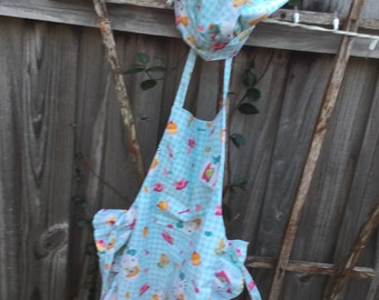 Childrens Apron and Chef Hat