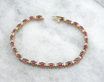 Ruby And Diamond Bracelet Very Fine Stones-NW05T9