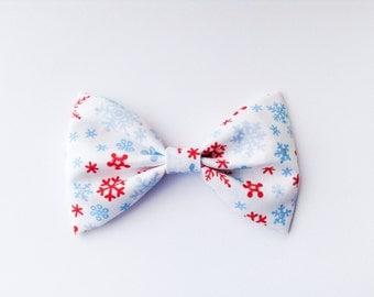 Snowflakes bow snowflakes bow tie