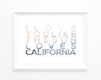 CALIFORNIA | Print