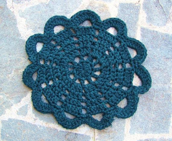 ... Rug - Crochet Rug, Doily Rug, Handmade Rug, Round Rug, Cotton Rug