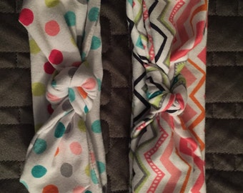 Adorable fabric knotted headbands made for the cutest baby/toddler/kid in your life.