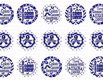 Colon Cancer Awareness (3) Bottle Cap Images 4x6 Bottlecap Collage Scrapbooking Jewelry Hairbow Center