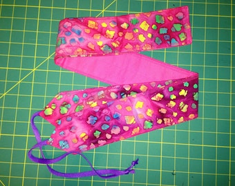 Pink and Multicolor Batik print cross fit Wrist Wraps