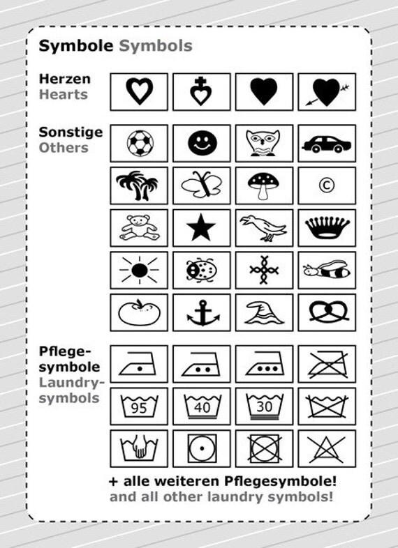 Textilkennzeichnung symbole