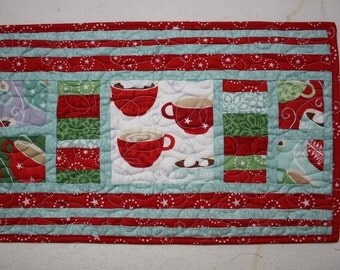 Christmas Table Runner Mug Rug Centerpiece In from the Cold by Moda