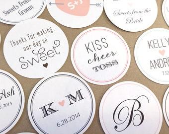Custom Wedding Stickers / Favor Bags / Birthday Stickers / Paper Bags / Wedding Favor / Cookie Bags / Custom Stickers / Donut Bags /Doughnut