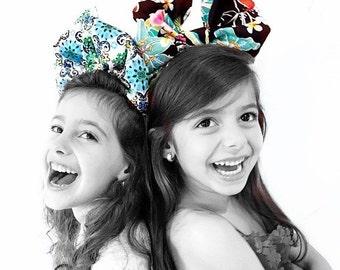 Big tropical bow, big bow, hair accessories, girl accessories, hair clip