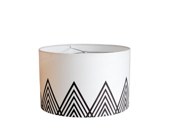 Modern Lamp Shade - Jotunheimen - Black and White
