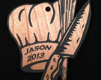 Custom Personalized Chef Christmas Ornament FREE Shipping