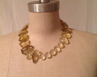 Lemon Citrine & Lemon Quartz Necklace