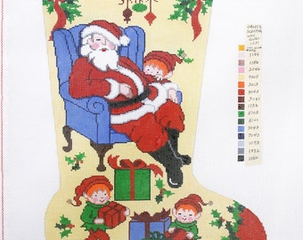 Needlepoint Handpainted Canvas GOODNIGHT MOON Christmas