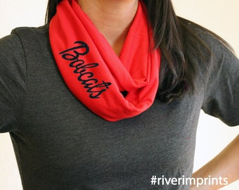 BOBCATS t-shirt infinity scarf, or your choice of mascot