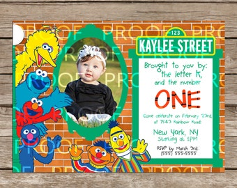 Custom Sesame Street Birthday Card