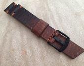 20mm, Caramel to Dark Brown, Ultra Distressed Strap