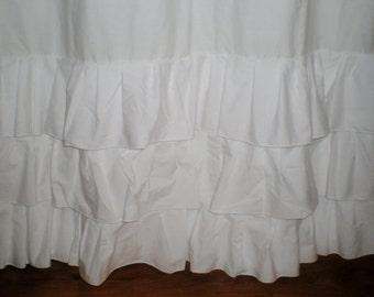 Prairie curtains, Ruffle Bottom Curtain 10 colors, Shabby chic curtains, Ruffle window curtains, Country curtains, Country ruffles