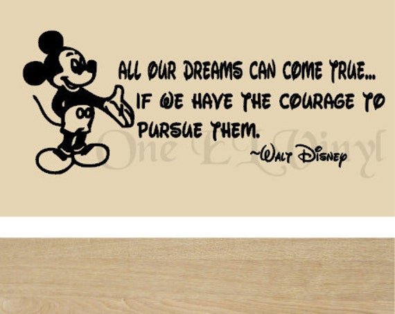 Quotes From Mickey Mouse: Walt Disney Mickey Mouse Vinyl Wall Quote All Our