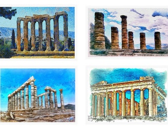 Ancient Greece - Set of 4 Large Placemats