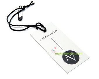 Jewelry Tags, Price Tags, Card Paper, Cardstock Paper, Hang Tag Printing, Hanging Labels, Clothing Name Tags, Hanging Swing, Free Shipping.