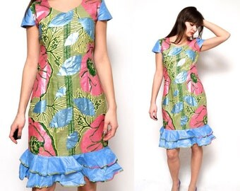 SALE___Vintage 90's Floral Midi Dress
