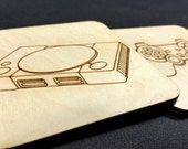Wood Coasters - Video Game Consoles and Controllers - Mix and Match Set of 4