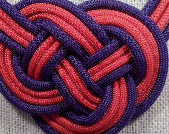 Infinity knot necklace.