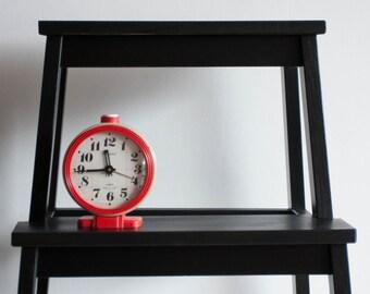 Soviet Desk Clock, Jantar Russian Alarm Clock, Soviet Union Home Decor, Office Decor Clock, Cream Beige Red, Midcentury