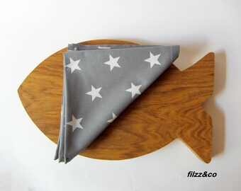 Napkins cloth napkins Napkins-Set of TWO table coasters coasterstable mats 2pieces Stars