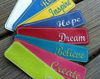 MOTIVATIONAL BOOKMARKS machine embroidery design