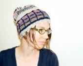 Slouch hat, pom beanie, knit hat, slouchy beanie, winter hat, toboggan, winter accessory