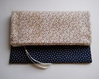 Patriotic Stars Two Sided Foldover Clutch