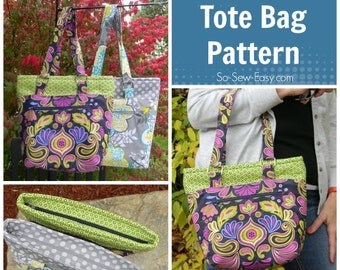 Lucy Tote Bag - PDF Sewing  pattern