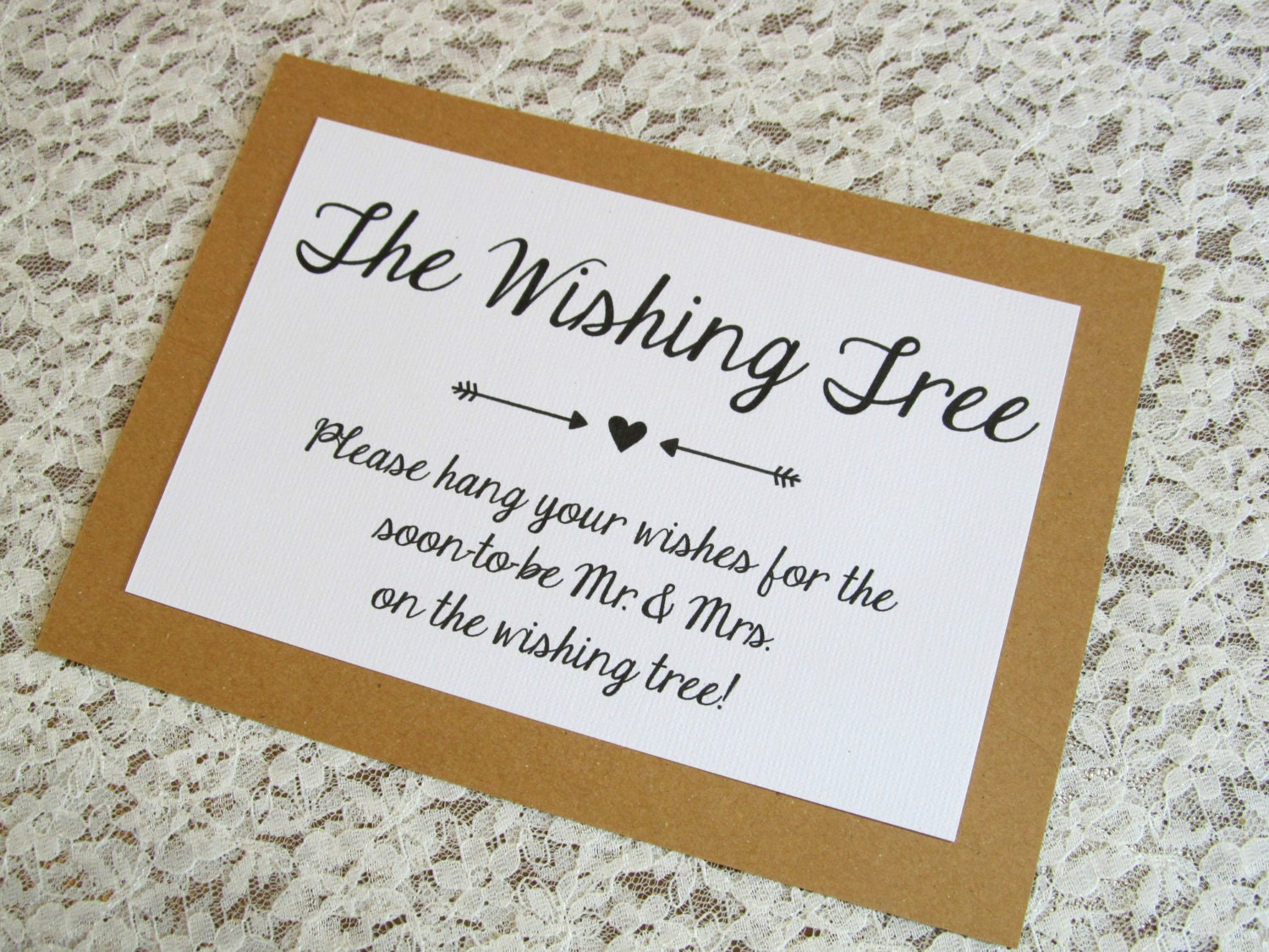 Wishing Tree Instruction Card For Bridal Shower Or Wedding 5x7