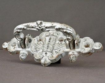 unique antique french cast-iron door handle - home decor