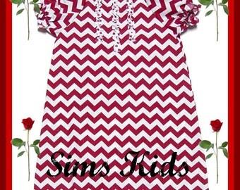 Custom Boutique clothing Chevron Peasant Dress