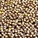 100 pcs Czech Fire-Polished Faceted Glass Beads Round 3mm Silky Gold Iris Matte (3FP016)