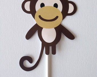 Monkey Baby Shower Centerpiece Signs // Reversible Monkey Centerpiece