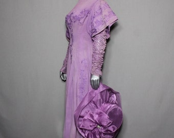 Lavender Victorian Mourning Dress Museum Collectors