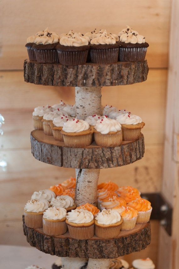 Rustic Wedding Wood Cupcake Stand