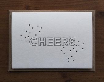 Cheers… Letterpress Notecard