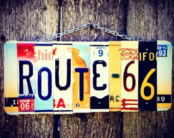 License plate art. License plate. Sign. Route66. Travel. Dad. Christmas. Garage. Beer. Man. Gift