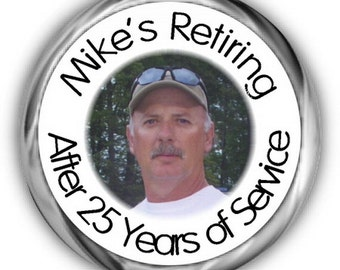 Photo Retirement Stickers - Personalized Retirement Labels - High Quality Gloss Sticker
