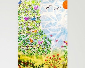 CARDS - blank, set of 3 - Family Tree