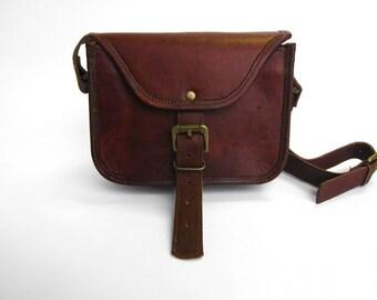 Brown Leather Messenger Bag - Clutch Bag - Vintage Style Handmade Satchel