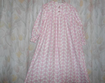 Size 8 Girls Gown with white whales