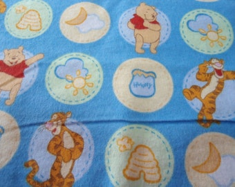 Receiving Blanket - Winnie the Pooh & Tigger on blue background