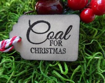 Coal for Christmas, Christmas tag, Holiday Tag, Gift Tag, Lump of Coal
