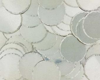 1/2 Inch 22 Gauge Sterling Silver Disc - HAMMERED EDGE